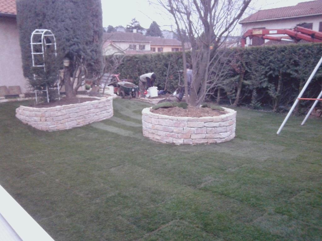 Jardin après travaux à Irigny